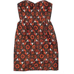 Milly Mabry Tiki Tile Print Mini Dress
